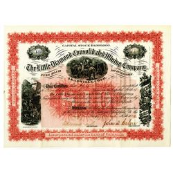 Little Diamond Consolidated Mining Co. 1882 Stock Certificate