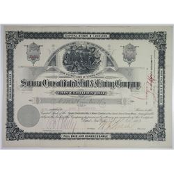 Sonora Consolidated Mill & Mining Co., 1883 I/U Stock Certificate.