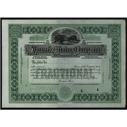 Ahmeek Mining Company of Michigan, 1903-23 Specimen Stock Certificate