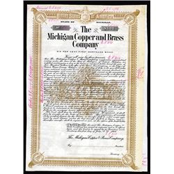 Michigan Copper and Brass Co., 1908 Specimen Bond Used as a Model.