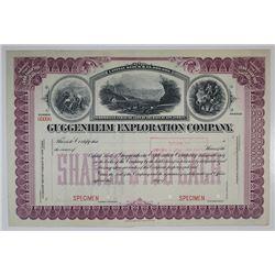 Guggenheim Exploration Co. Specimen Stock Certificate