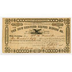 New Bedford Silver Mining Co., 1881 I/U Stock Certificate.