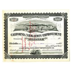 California Navigation and Improvement Co. 1909 I/C Stock Certificate