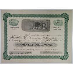 Roosevelt Oil Co. 1906 I/U Stock Certificate