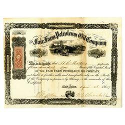 Fair Farm Petroleum Oil Co., 1865 I/U Stock Certificate.