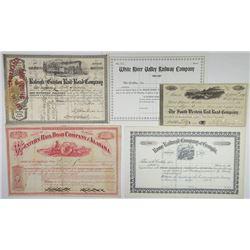 Alabama and Georgia Stock Certificate Assortment Quartet, ca.1870-1905