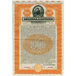 Arizona Eastern Railroad Co.,1910 Specimen Bond
