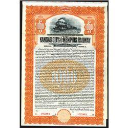 Kansas City and Memphis Railway Co., 1911 Specimen Bond.