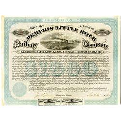 Memphis and Little Rock Railway Co., 1873 I/U Bond.