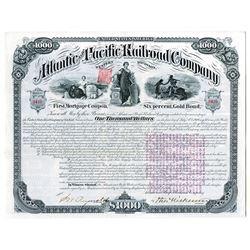 "Atlantic and Pacific Railroad Co., 1880 I/U ""Western Division"" Bond."