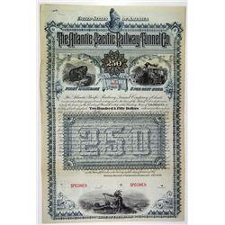 Atlantic-Pacific Railway Tunnel Co. 1887 Specimen Bond