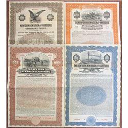 New York, New Haven and Hartford Railroad Co., 1904-1927 Specimen Bond Quartet.