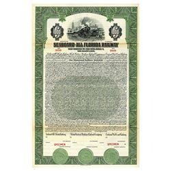 Seaboard-All Florida Railway 1926 Specimen Bond.