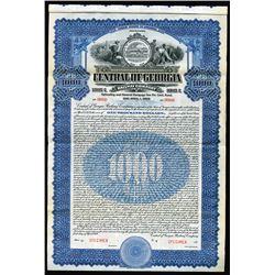 Central of Georgia Railway Co., 1919 Specimen Bond