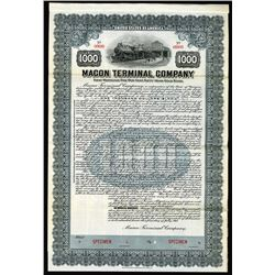 Macon Terminal Co., 1915 Specimen Bond