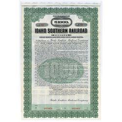 Idaho Southern Railroad Co., 1909 Specimen Bond