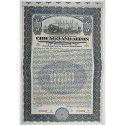 Chicago and Alton Railroad Co. 1912 Specimen Bond