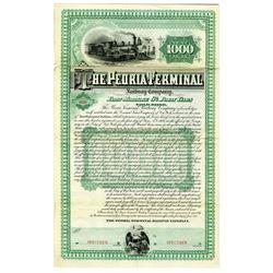Peoria Terminal Railway Co. 1885 Specimen Bond Rarity