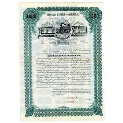 Rantoul Railroad Co., 1887 Specimen Bond