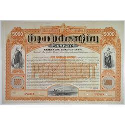 Chicago and Northwestern Railway Co. 1886 Specimen Bond