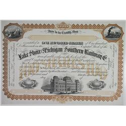 Lake Shore and Michigan Southern Railway Co., ca.1870 Unlisted  Proof Stock Certificate.
