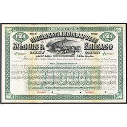 Cincinnati, Indianapolis, St. Louis & Chicago Railway Co., 1899-1900 Specimen Bond.