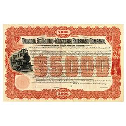 Toledo, St. Louis and Western Railroad Co. 1900 Specimen Bond