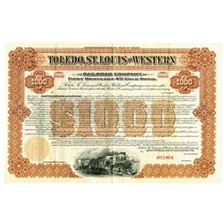 Toledo, St. Louis and Western Railroad Co., 1900 Specimen Bond