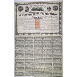 Indiana & Illinois Central Railway Co. 1871 I/C Bond with Imprinted Revenues.