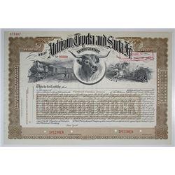 Atchison, Topeka and Santa Fe Railway Co. Specimen Stock Certificate