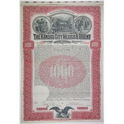 Kansas City, Mexico & Orient Railway Co. 1901 I/U Bond