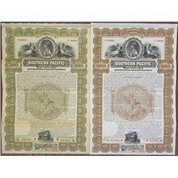 Southern Pacific Co. 1899 Specimen Bond Pair