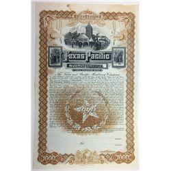 Texas and Pacific Railway Co., 1888 Specimen Bond