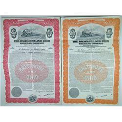 Baltimore and Ohio Railroad Co., 1946 Pair of Specimen Bonds