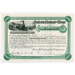 Charleston Cincinnati & Chicago Railroad Co. 1891, I/U Bond.