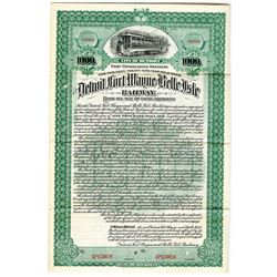 Detroit, Fort Wayne and Belle Isle Railway 1898 Specimen Bond Rarity