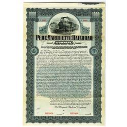 Pere Marquette Railroad Co. 1903 Specimen Bond Rarity