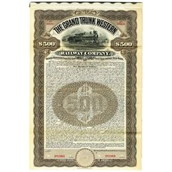 Grand Trunk Western Railway Co. 1900 Specimen Bond