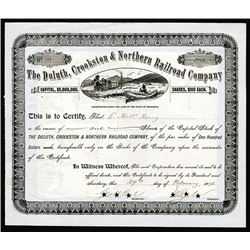 Duluth, Crookston & Northern Railroad Co., 1896, 1 I/C Stock.