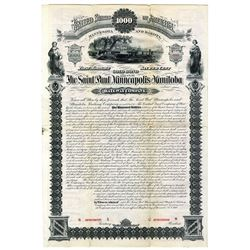 Saint Paul, Minneapolis and Manitoba, 1880 Specimen Bond