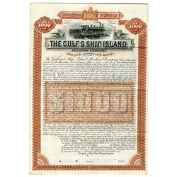 Gulf & Ship Island Railroad Co., 1887 Specimen bond.