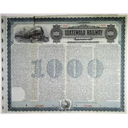Guatemala Railway Co. 1905 Specimen Bond