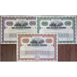 Erie Railroad Co. 1930 Specimen Bond Trio