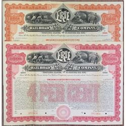 Erie Railroad Co., 1901 Specimen Registered Bond Pair