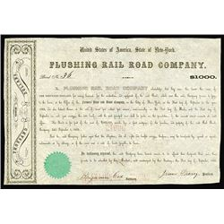 Flushing Rail Road Co., 1855 7% Bond.