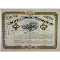 Harlem River and Portchester Rail Road Co., 1881 Specimen Bond