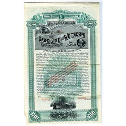 Lake Erie and Western Railroad Co. 1887 Specimen Bond Rarity