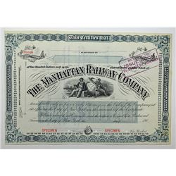 Manhattan Railway Co., 190x Specimen Stock Certificate.