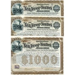New Jersey & New York Railroad Co. 1892 I/U Bond Trio.