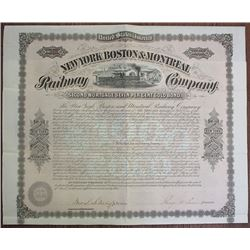 New York, Boston and Montreal Railway Co. 1873 I/U Bond